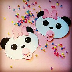 Panda Bear Decoration Heads Set Of 3 Girl PaperPerfect De... Https:/. Baby  Shower ...