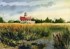 East Point Lighthouse . watercolor . illustration