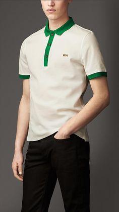 Burberry London Mercerised Cotton Polo Shirt