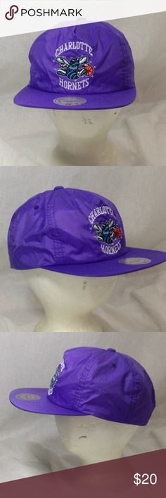 Charlotte Hornets Hat Mitchell & Ness SnapBack Cap Charlotte Hornets Hat   Brand: Mitchell & Ness   Size: Adjustable SnapBack  Condition: Preowned Good  As always, see all pictures, and feel free to ask any questions you may have. Mitchell & Ness Accessories Hats