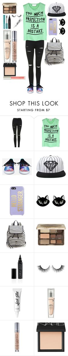 """Untitled #378"" by i-found-wonderland ❤ liked on Polyvore featuring Topshop, 5 Preview, Vans, Diamond Supply Co., Kate Spade, Erstwilder, Rebecca Minkoff, Too Faced Cosmetics, CARGO and Rimini"