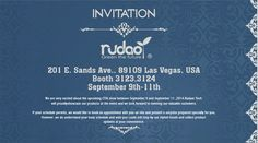 RUDAOR INVITATION FOR CTIA