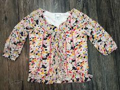 DVF Diane Von Furstenberg Blouse 100% Silk Floral Full Button Sz 4 Womens 49S  | eBay