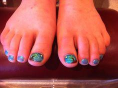 Cute toe nail art