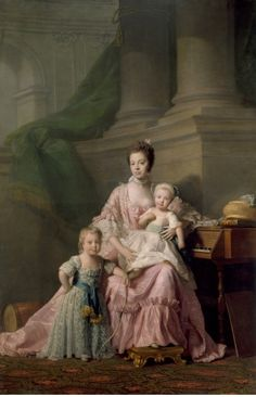 Queen Charlotte with her two Eldest Sons. ca. 1764-1769. By Allan Ramsay. Oil on…