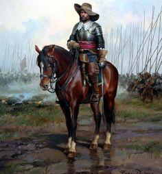 Oficial caballería española mediados siglo XVII - Ferrer Dalmau. Más en www.elgrancapitan.org/foro