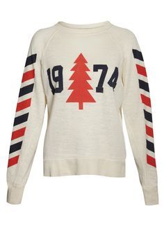 Wildfox Breckenridge 1974 Nantucket Jersey - White - T-Shirts & Jerseys - Tops Ski Sweater, Jumper, Classic Wardrobe, Vintage Ski, Slogan Tee, White T, Wildfox, Autumn Winter Fashion, Fall Winter
