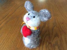 Valentine gift ideas Valentine bunny Valentine rabbit by Felt4Soul