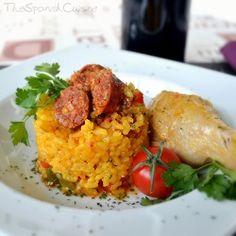 Spanish rice recipe with chicken and chorizo! - Spanish Food Recipes