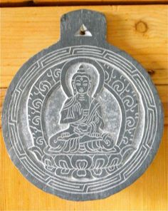 Carved Slate Medicine Buddha Wall Hanging/Door Hanging by MidasMoon on Etsy https://www.etsy.com/listing/239417061/carved-slate-medicine-buddha-wall