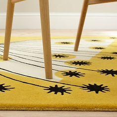 Detail of the Dandelion mobile rug