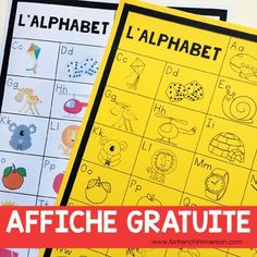 FREE French Alphabet Chart: students can keep the B&W version in their writing folders and the teacher can also print the color version to be used as a classroom poster! A French teacher's must-have tool :) Teaching French, French Teacher, Teaching Spanish, Teaching Reading, Learning The Alphabet, Student Learning, Inquiry Based Learning, French Alphabet, French Lessons
