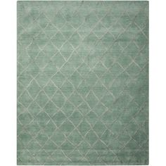 Found it at Wayfair - Greta Hand-Loomed Aqua Area Rug