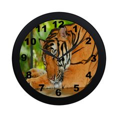 Sleeping Tiger Circular Plastic Wall clock