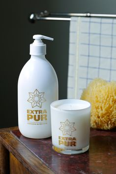 Limited Edition by Compagnie de Provence. Extra Pur - Orange Blossom - liquid soap - candle - white toiletries. Art Direction : http://www.centquarantedeux.com/