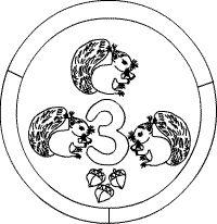 Zahlen lernen 3_Mandala