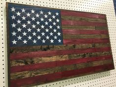 Reclaimed Wood American Flag,Handmade Wood Flag,Rustic Home Decor,Reclaimed Wood,Military Decor,Wood American Flag Images, American Flag Wood, Bourbon And Boots, Wood Flag, Great Gifts For Dad, Reclaimed Barn Wood, Rustic, Tactical Store