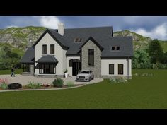 Ideas For Farmhouse Architecture House Plans Front Elevation Two Storey House Plans, Open House Plans, Dream House Plans, House Designs Ireland, Houses In Ireland, Luz Natural, Style At Home, Dormer House, Dormer Bungalow
