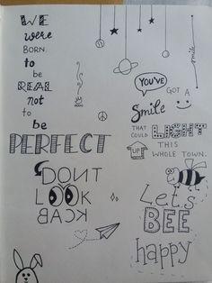 Doodling is my perfect solution for boredom - Jessica Sanchez - Bilder Notebook Doodles, Doodle Art Journals, Doodle Lettering, Hand Lettering Quotes, Doodle Drawings, Easy Drawings, Doodle Quotes, Bullet Journal Quotes, Drawing Quotes