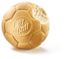 Eat the Ball® Soccer original. Bread of a new Generation. One Ball One Game! First Game, Soccer Ball, Bread, The Originals, Logos, Soccer, Breads, Logo, Football