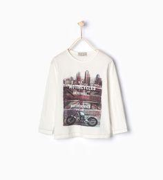 "Image 1 of ""UK MOTORCYCLES"" T-shirt from Zara"