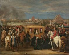 Adam Frans van der Meulen : Solemn entry of King Louis XIV and Queen Maria-Theresa in Douai on 23 August 1667 (Château de Versailles (France - Versailles, Greater Paris)) アダム・フランス・ファン・デル・ミューレン Louis Xiv, Roi Louis, Maria Theresa, Paris, Versailles, View Image, 17th Century, Les Oeuvres, Art Boards