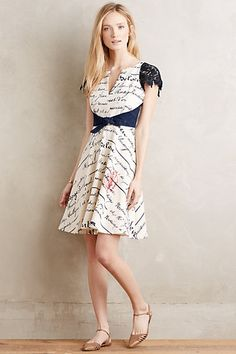 Chirography Dress #anthropologie