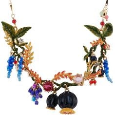 Les Néréides CHIMERA PLANT POPPIES' HEAD ON A LEAFY AND FLOWERED... ($363) ❤ liked on Polyvore featuring jewelry, necklaces, jewelry necklaces, multicolor, les nereides necklace, colorful jewelry, thick necklace, poppy necklace and poppy jewelry
