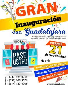 No te pierdas la gran inauguración de la nueva sucursal de Rigbasub en Guadalajara Grand Opening, Guadalajara, Innovative Products