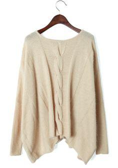 Oversized Sweaters | Cream Cable Knit Oversized Sweater on Wanelo