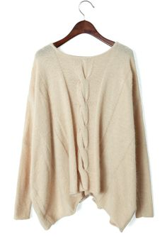 Oversized Sweaters | Cream Cable Knit Oversized Sweater on Wanelo