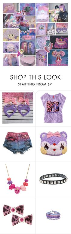 """""""~ My world is better than the real one ~"""" by kawaii-gali ❤ liked on Polyvore featuring H&M, Mother, Vivienne Westwood, cute, purple, grunge and pastel"""