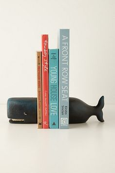 Victorian Whale Bookends