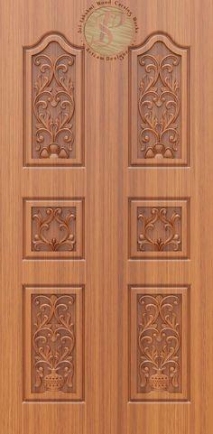 Double Door Design, Main Door Design, Room Door Design, Door Design Interior, Ganesh Wallpaper, Room Doors, Double Doors, 3d Design, Cnc