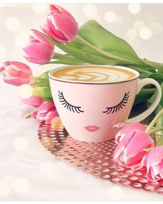 Good Morning Roses, Good Morning Gif, Coffee Break, Morning Coffee, Bon Mardi, Flamingo Wallpaper, Cute Love Gif, City Painting, Flower Graphic