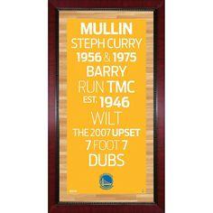 Steiner Sports Golden State Warriors 32'' x 16'' Vintage Subway Sign, Multicolor
