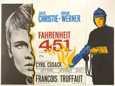 British quad for FAHRENHEIT 451 (François Truffaut UK... Movie Poster of the Day