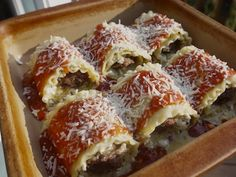 These look great!  Italian Sausage Lasagna Rollups Recipe + Win A Trip To Italy!