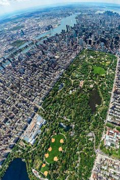 Vista aérea de Central Park, NYC