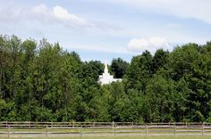 Palmyra New York.  This is the Palmyra LDS Temple.  This is the site of the temple taken from the Smith family farm.  You can go on a wonderful tour of their homes and the Sacred Grove.  The Grandin printing press in Palmyra is a must see spot as is the Hill Comorah visitors center.