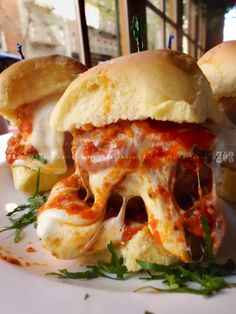 MEATBALL PARM SLIDERS | with Mozzarella and Parmesan Cheeses | DORRIAN'S RED HAND | Upper East Side, NYC | Spring At Hand | PHUDE-nyc | Food. Photos. 'Tude.