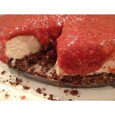Dairy-Free {Raw} Strawberry Cheesecake