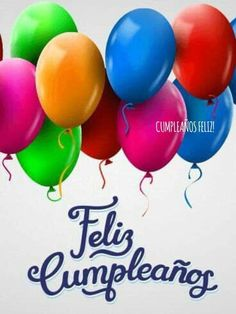 Send Free Colorful Happy Birthday Balloon Card In Spanish