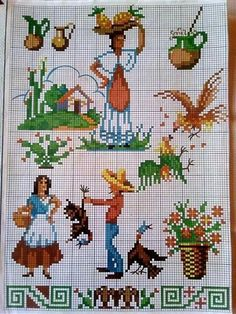 Needlework, Kids Rugs, Ely, Fair Isles, Contouring, Cuisine, Cross Stitch Pictures, Punto De Cruz, Embroidery Designs