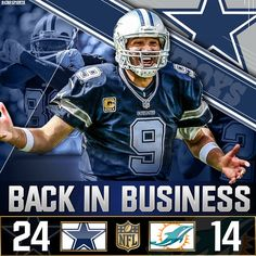 Tony Romo has returned, and the Dallas Cowboys look far from finished! I know that's right!!