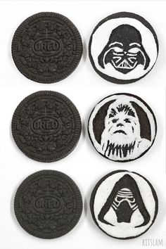 Oreo Cookies with popular Star Wars characters carved into them. Star Wars oreo cookie carvings by Kitslam. Art Attack Ideas, Cookie Drawing, Star Wars Drawings, Speed Art, Candy Art, Star Wars Fan Art, Crayon Art, Still Life Art, Color Pencil Art