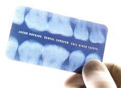 Cartão de visita para dentistas.