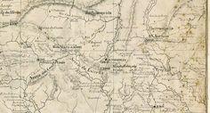 Pormenor da Carta Cartográfica do Rio de Janeiro em 1858 1861, Centro em Petrópolis.