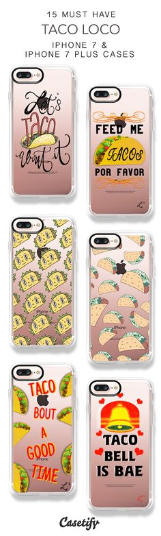 15 Must Have Taco Loco Protective iPhone 7 Cases and iPhone 7 Plus Cases. More Food iPhone case here > https://www.casetify.com/collections/top_100_designs#/?vc=Qbvy6HBN5H
