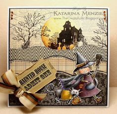 Cute Halloween card....by Katarina Menzies, see it on her Watermelon Sugar blog